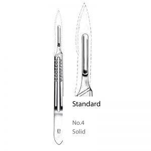 Solid No. 4 Scalpel Handle Standard Straight